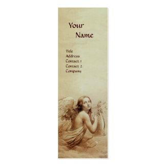 ANGE JOUANT LYRA AU-DESSUS du monogramme de NUAGES Carte De Visite Petit Format