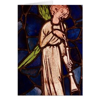 Ange jouant une trompette, c.1280 carte de vœux