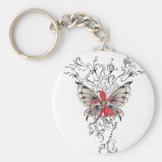 Ange rouge élégant de Feur-De-Lis de fleur Porte-clés