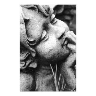 Ange sculpté papier à lettre personnalisé
