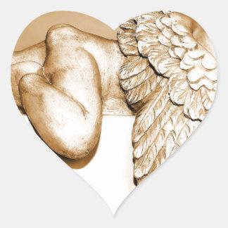 Ange Sticker Cœur