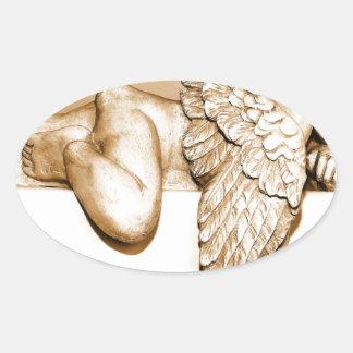 Ange Sticker Ovale