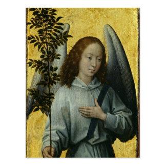 Ange tenant une branche d'olivier carte postale