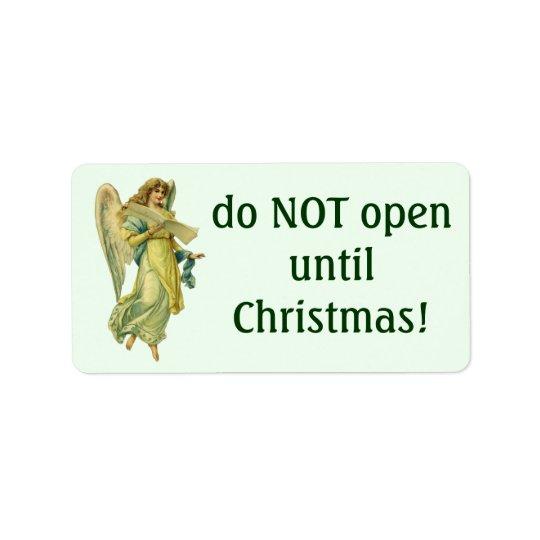 Ange victorien de Noël, Gloria dans Excelsis Deo Étiquettes D'adresse