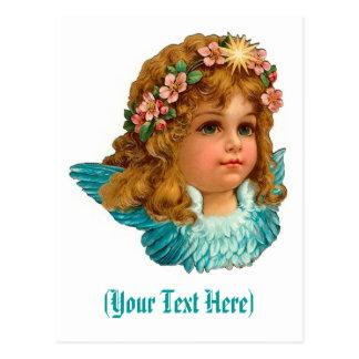 Ange victorien Pâques florale vintage Carte Postale