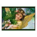 Ange vintage dans la carte de vacances de Noël de