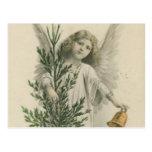 Ange vintage de Noël Carte Postale