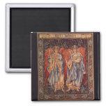 Angélus Laudantes, anges vintages par Burne Jones Magnets