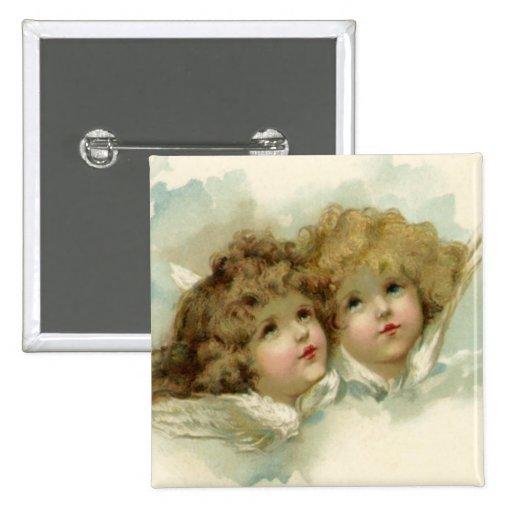 Anges d'ange badge carré 5 cm