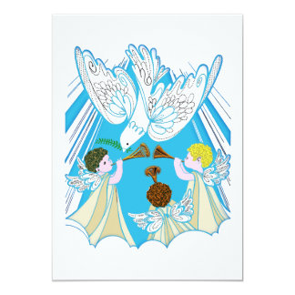 Anges de bébé et colombe de paix bristols personnalisés
