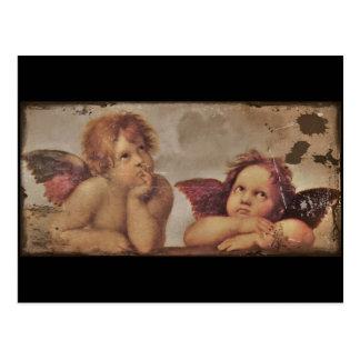 Anges de bébé par Raphael Carte Postale