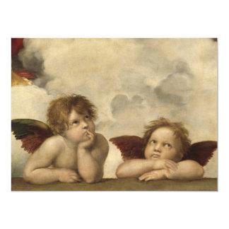 Anges de Raphael Carton D'invitation 16,51 Cm X 22,22 Cm