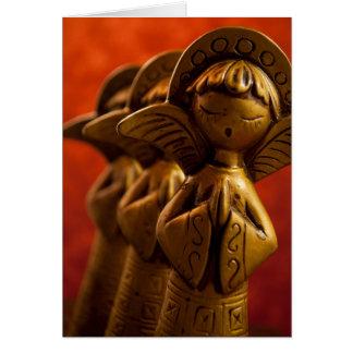 Anges élevant Dieu ! Carte De Vœux