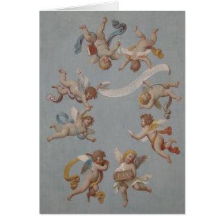 Anges lunatiques d'ange de la Renaissance Carte De Vœux