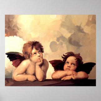Anges Raffaelo Sanzio de Sistine Madonna Posters