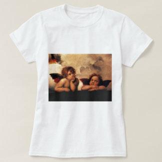 Anges Sistine Madonna de Raphael 2 anges T-shirts