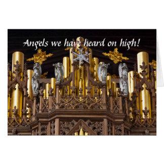 Anges sur la carte de Noël d'organe de Chester
