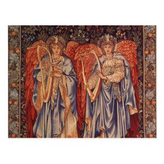 Anges vintages, angélus Laudantes par Burne Jones Carte Postale