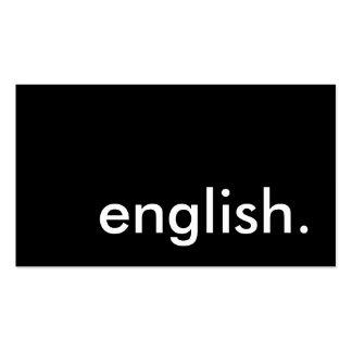 anglais modèle de carte de visite