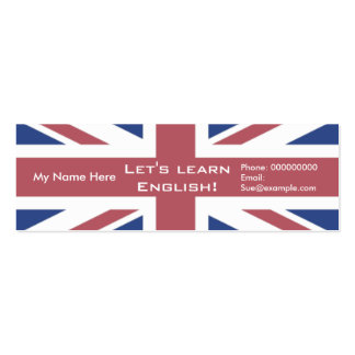 Anglais de enseignement -- Cartons publicitaires Cartes De Visite Personnelles