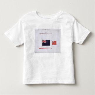 Anglais diminue, d'un livre français des drapeaux, t-shirt pour les tous petits