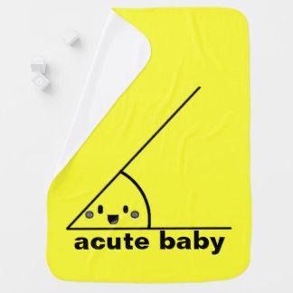 Angle aigu drôle geeky couvertures de bébé