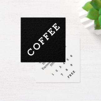 Angle foncé de carte perforée de café de fidélité
