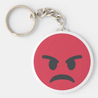 Angry Emoji Porte-clé Rond