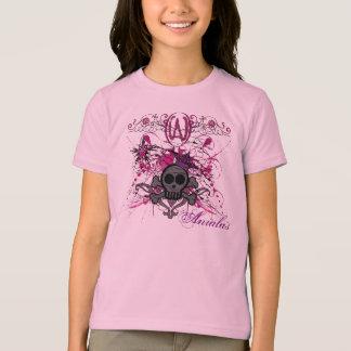 Anialas badine le T-shirt Girly de crâne