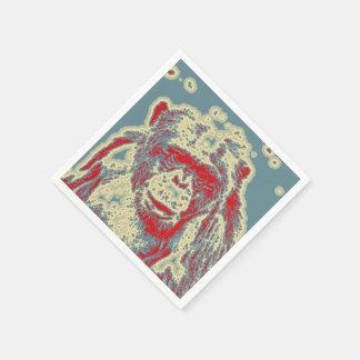 animal abstrait - chimpanzé serviette jetable