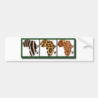 Animal africain Collage2 Autocollant De Voiture