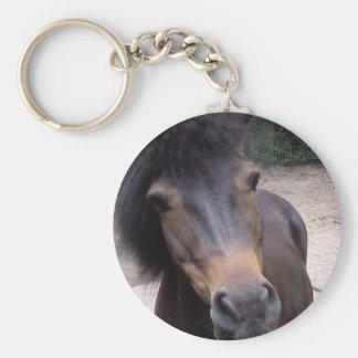 Animal, cheval, poney porte-clé rond