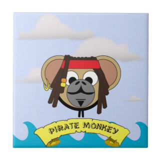 Animal de bande dessinée de capitaine Pirate Petit Carreau Carré