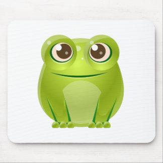 Animal de bébé de grenouille dans le style doux tapis de souris