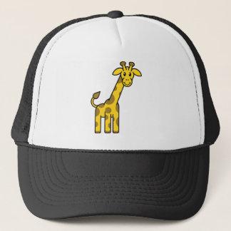 Animal de girafe de bande dessinée casquette