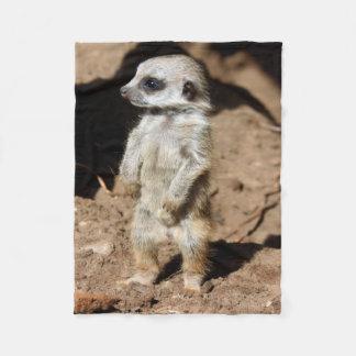 Animal doux mignon merveilleux de Meerkat Couverture Polaire