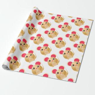 animal du bébé 00078Mouse dans le style doux Girly Papier Cadeau