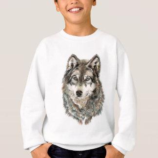 Animal fait sur commande d'aquarelle de loup de sweatshirt