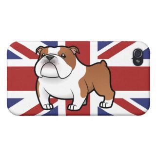 Animal familier de bande dessinée avec le drapeau étui iPhone 4/4S