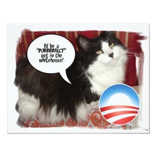 Animal familier d'Obama/humour politique Carton D'invitation 10,79 Cm X 13,97 Cm