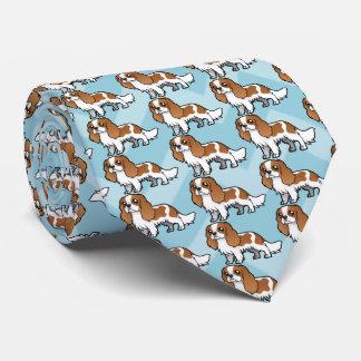 Animal familier mignon de bande dessinée cravates