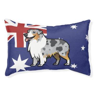 Animal familier personnalisable mignon sur le lit pour chien