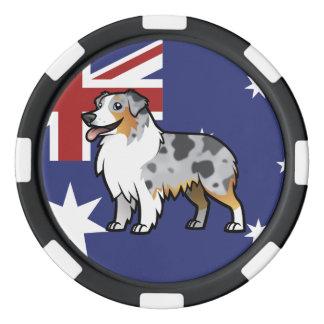 Animal familier personnalisable mignon sur le rouleau de jetons de poker