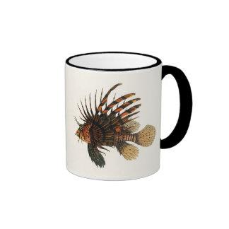 Animal marin vintage de la vie d'océan, Lionfish,  Tasse