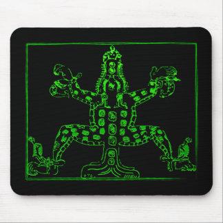 Animal maya vert frais tapis de souris