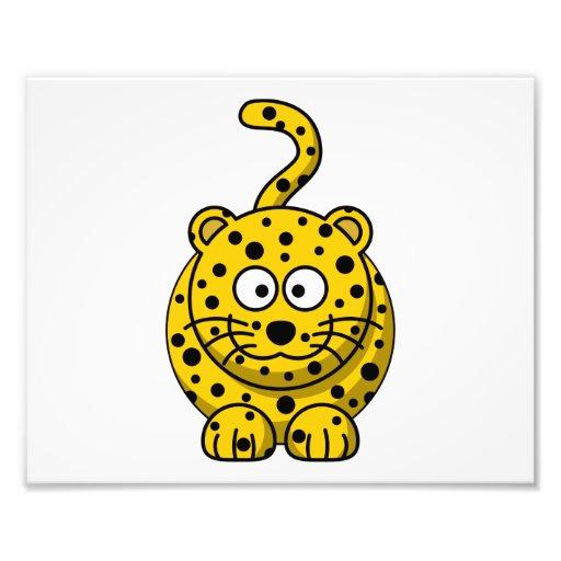 Animal mignon de bande dessinée de léopard photos sur toile