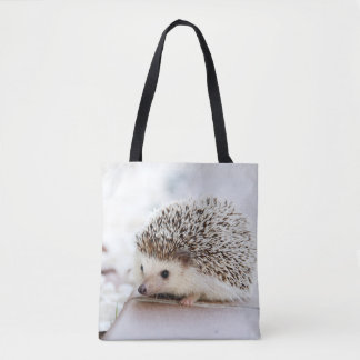 Animal mignon de hérisson de bébé tote bag