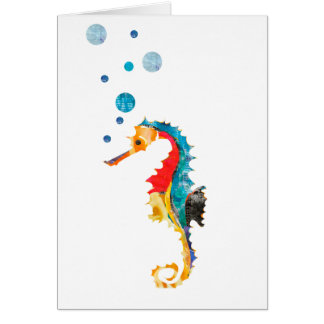 Animal mignon d'océan d'hippocampe d'HIPPOCAMPE Carte De Vœux