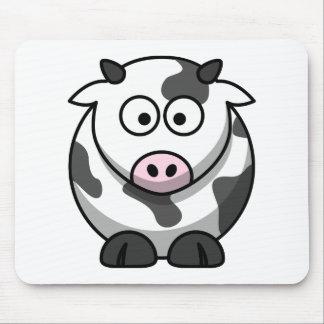 Animal mignon drôle de vache à bande dessinée tapis de souris