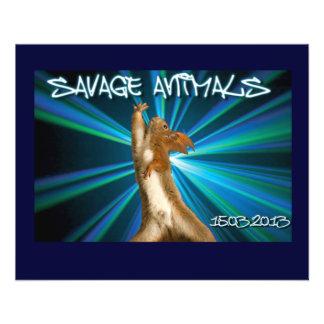 Animal sauvage prospectus personnalisés